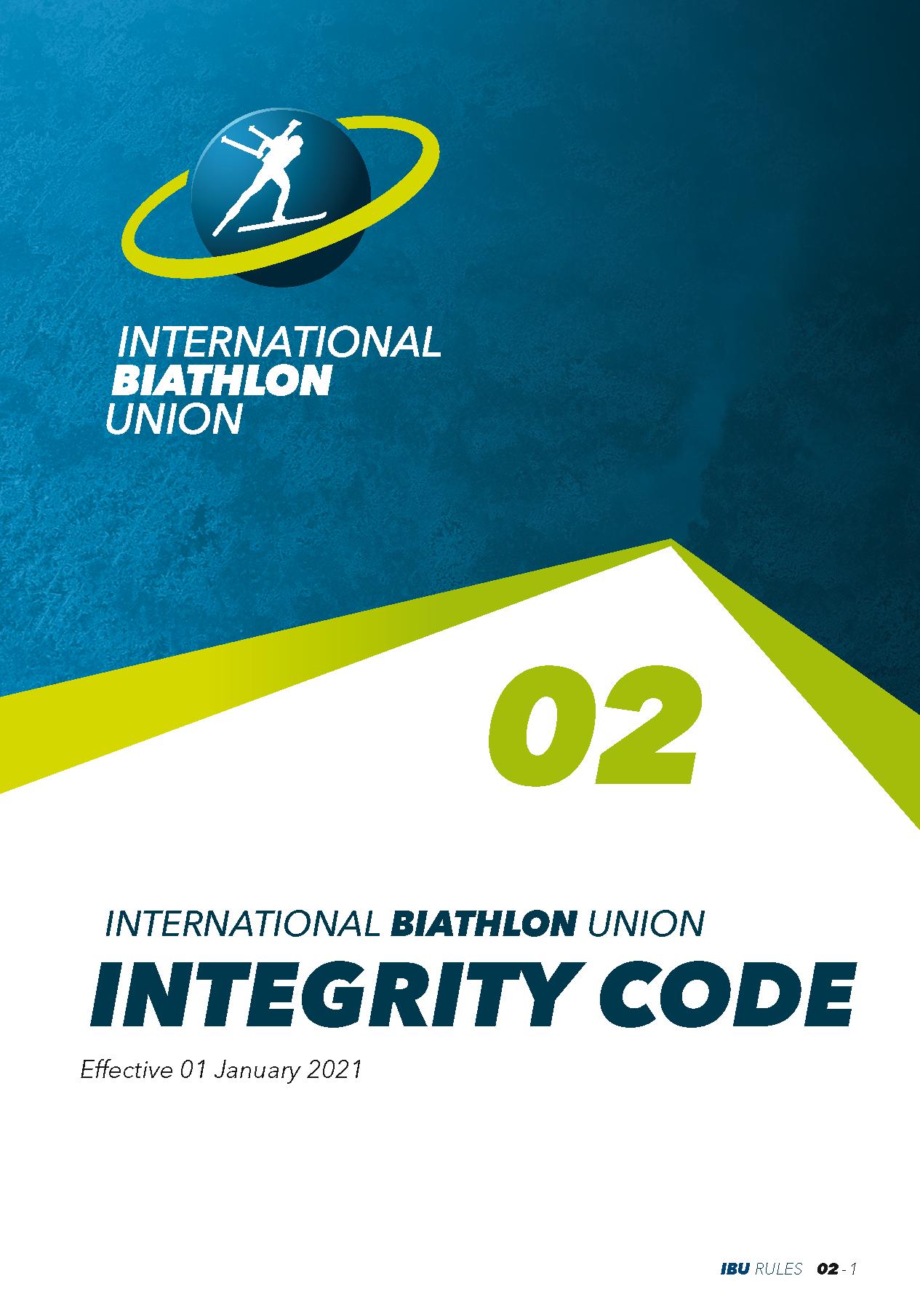 International Biathlon Union (IBU) Integrity Code