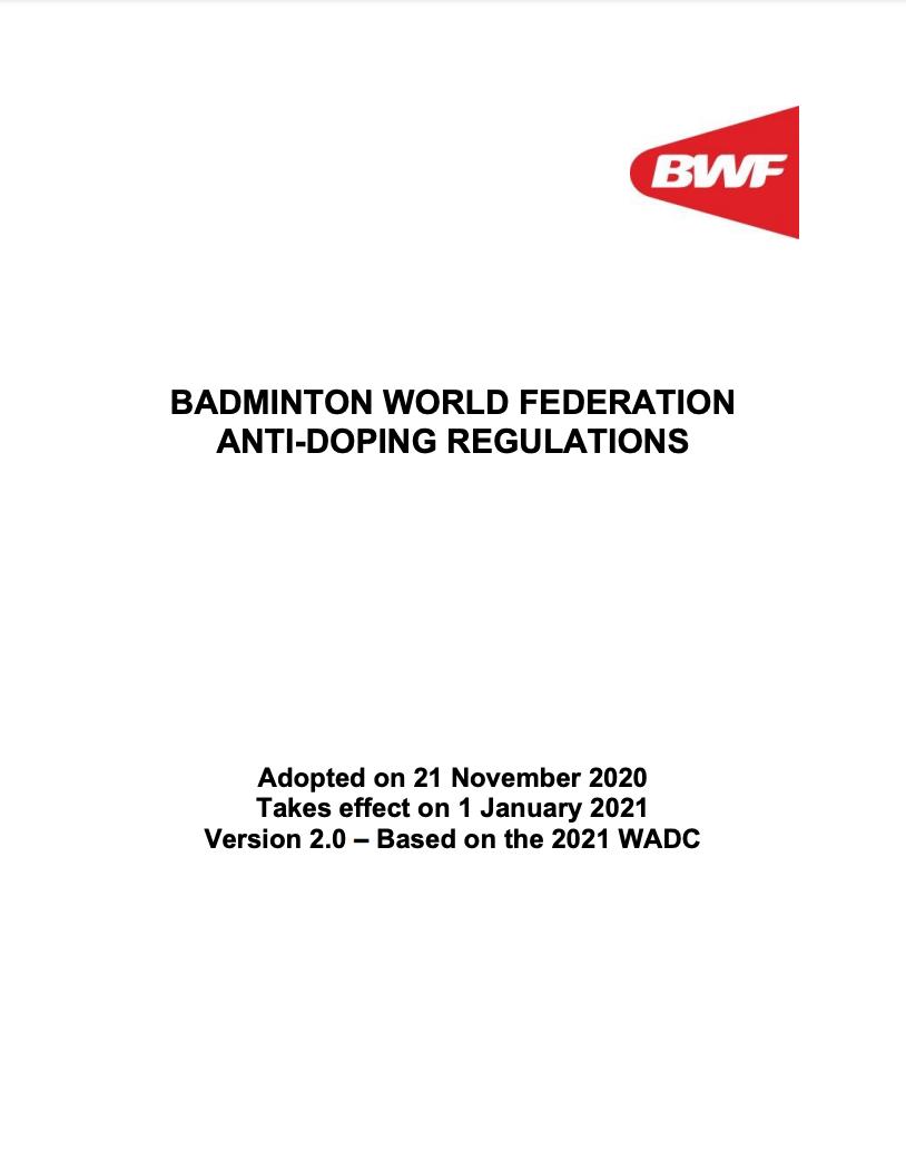 Badminton World Federation (BWF) Anti-Doping Rules