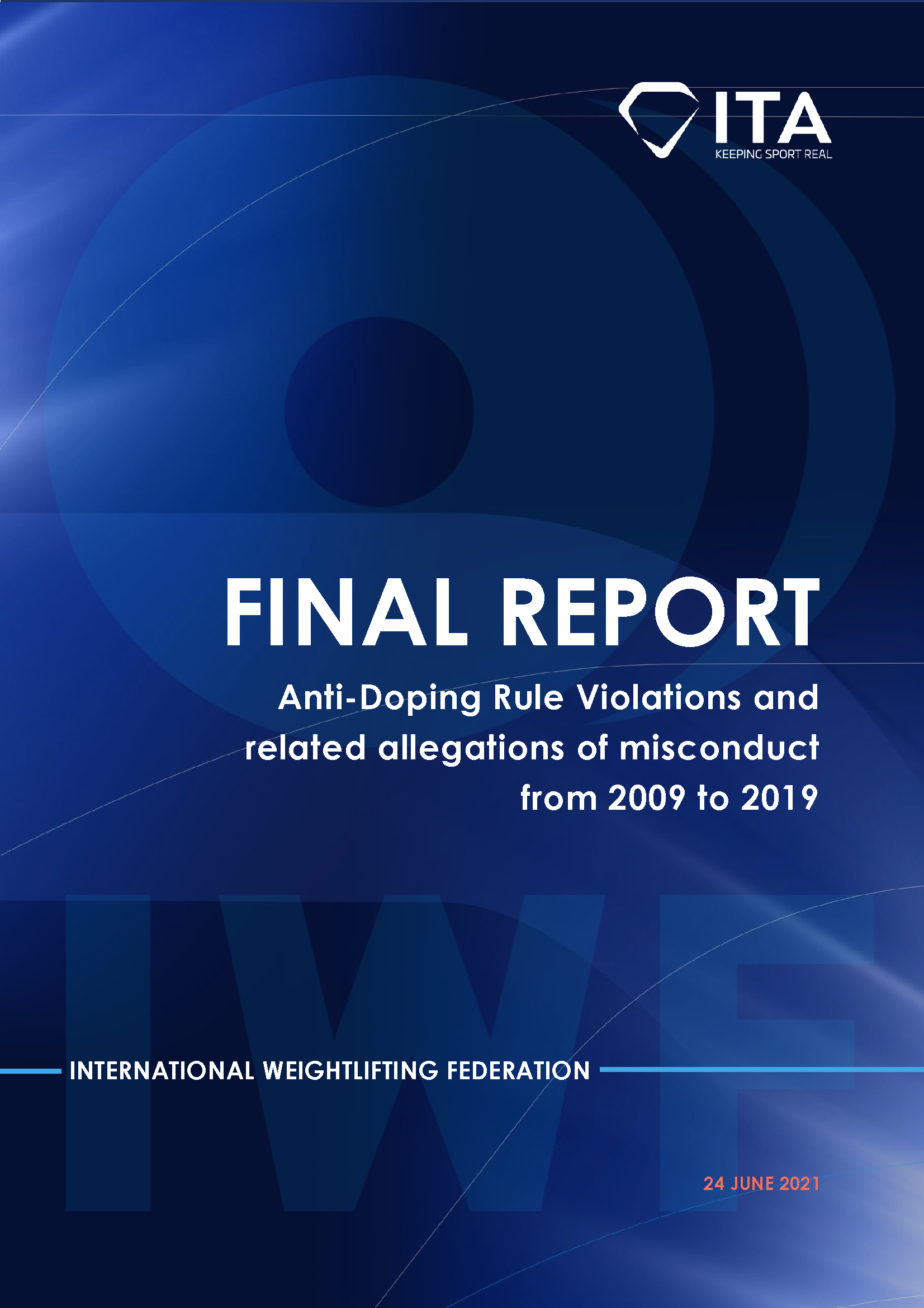 ITA report on IWF: Anti-Doping Rule Violations and related allegations of misconduct from 2009 to 2019