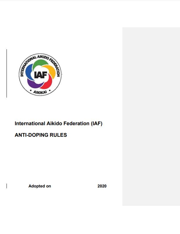 IAF's Anti-Doping Rules