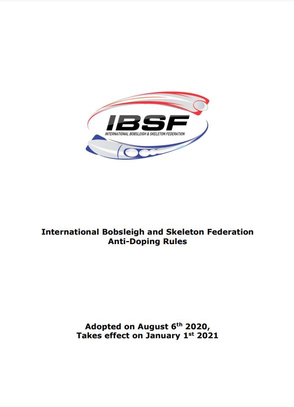 IBSF's Anti-Doping Rules
